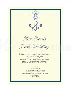 Anchor wedding invite... but I think I'll use it as a save the date rather than the invitation