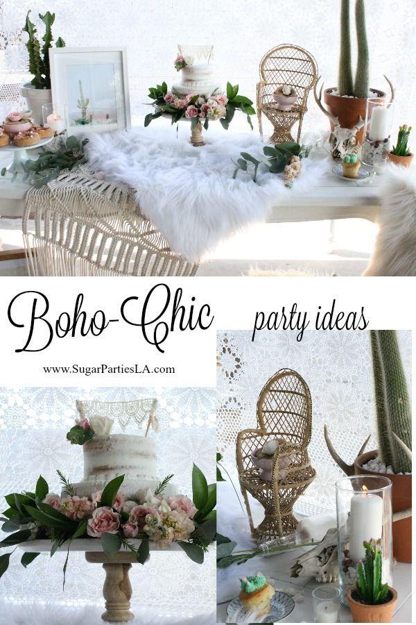 bohemian birthday boho chic party cactus party cactus boho party decor boho dessert table on boho chic kitchen table decor id=76032