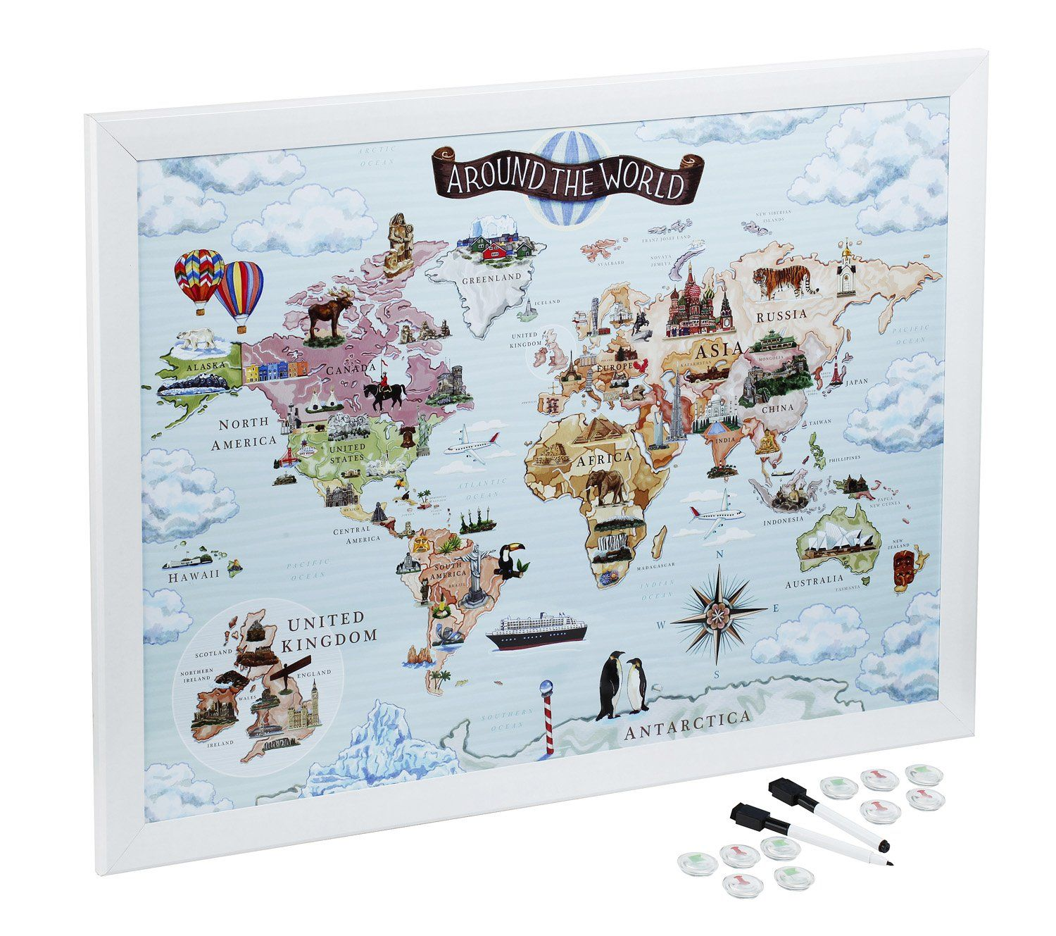 World map magnetic whiteboard maps to draw pin and plan your world map magnetic whiteboard maps to draw pin and plan your travels world gumiabroncs Images