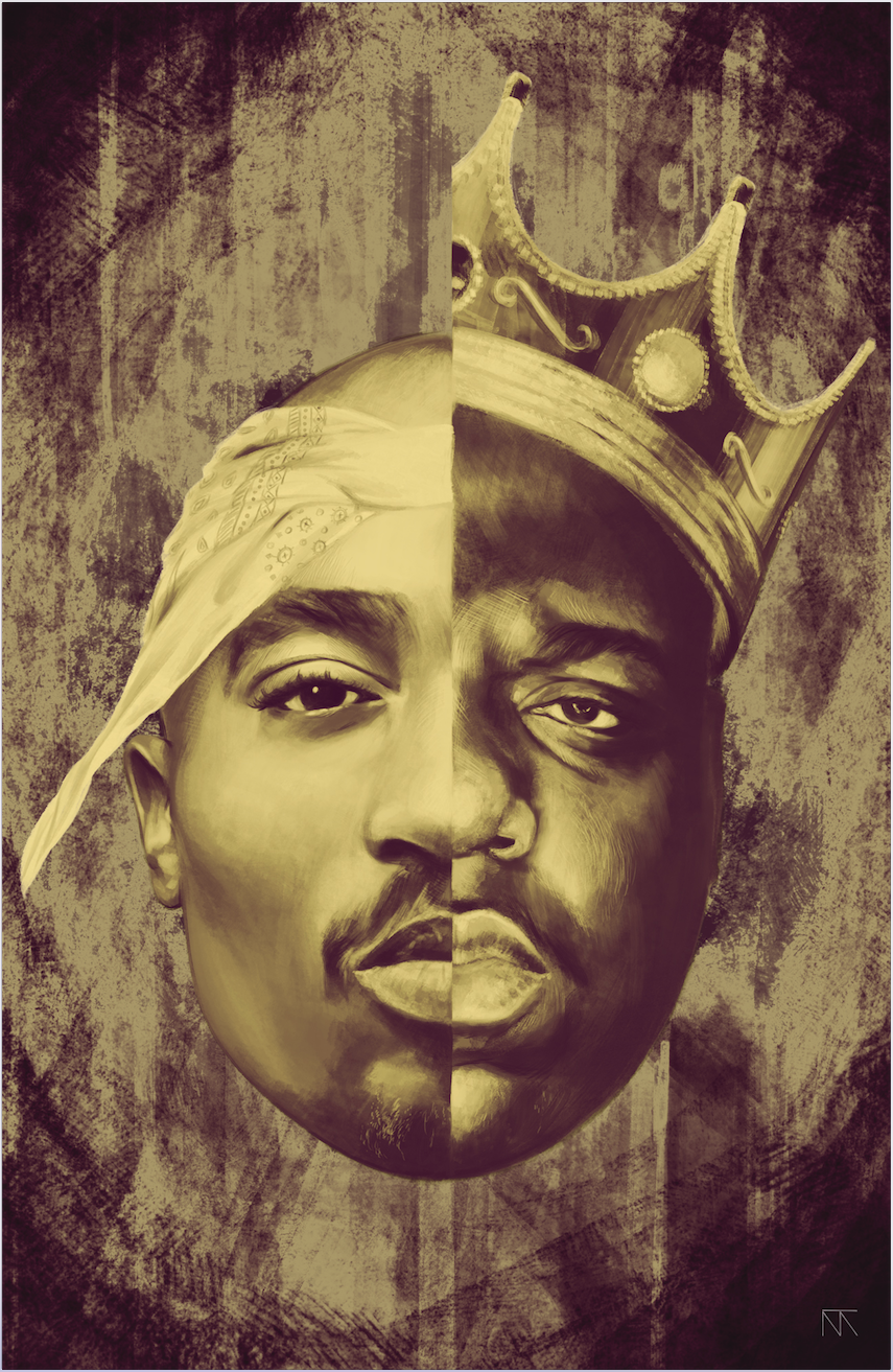 Painting Poster Of The Late Greats Of Hip Hop 2pac And Biggie Smalls Manner Tattoo Ideen Tattoo Ideen Mann