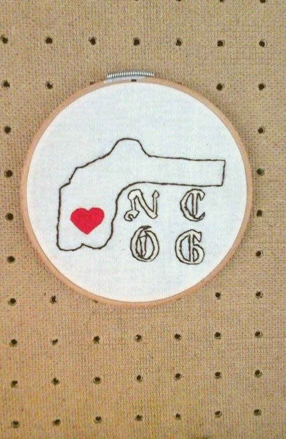 Northern California Nevada County Original Gangster Embroidery