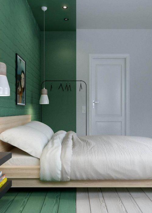 Wandgestaltung Grun So Setzen Sie Die Farbe Effektvoll Ein Deco Home In 2020 Wandgestaltung Grun Wandfarbe Grun Schlafzimmer Einrichten