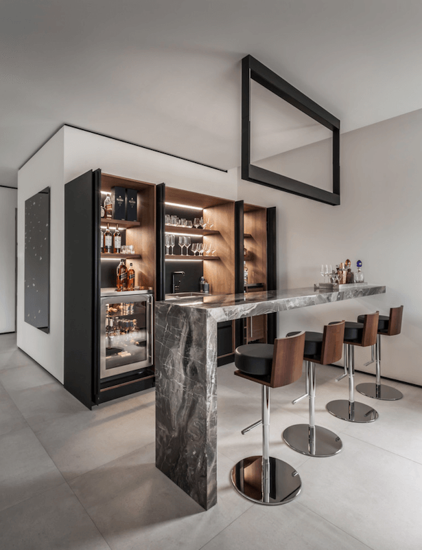 5 Ways To Set Up A Home Bar For New Year S Entertaining Freshome