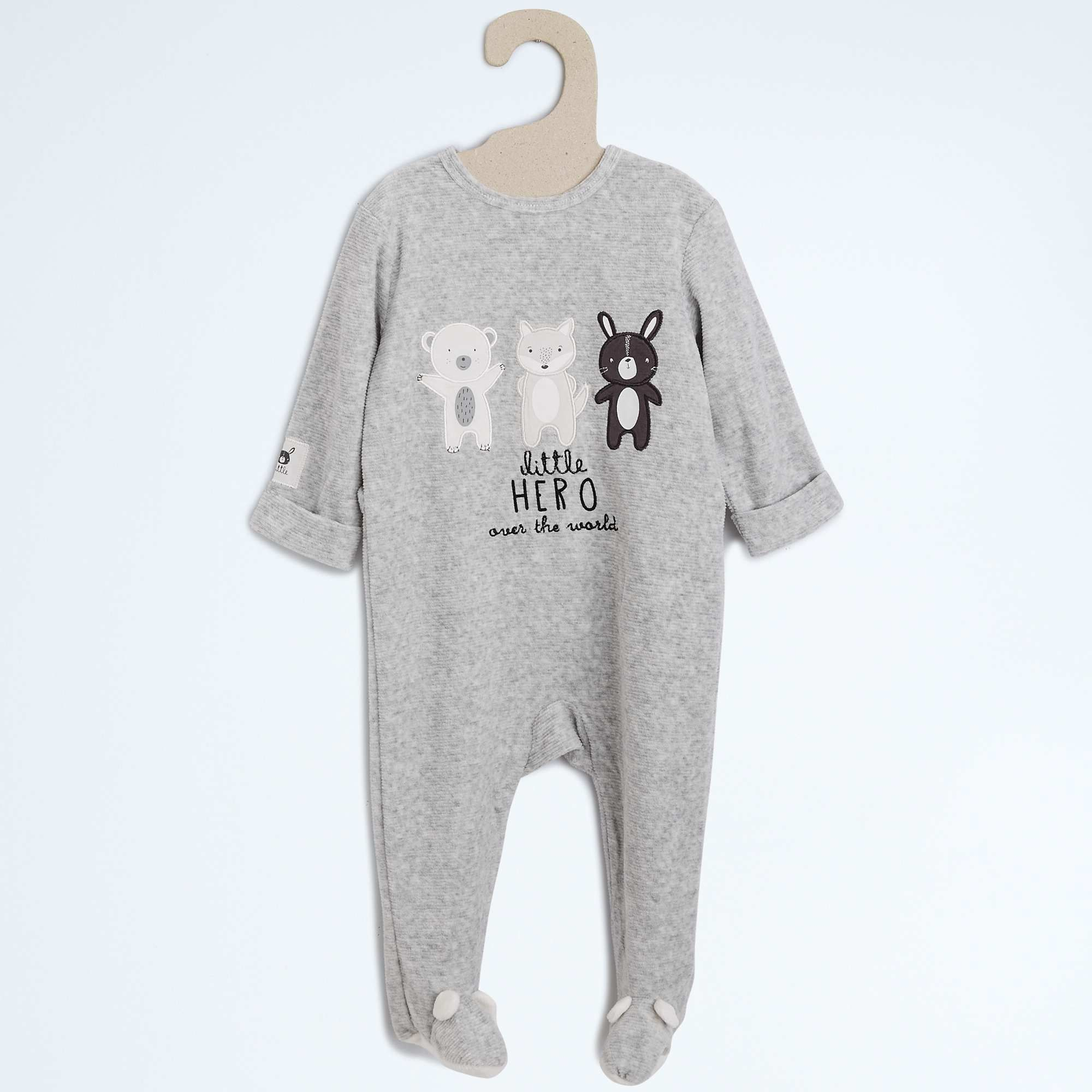 66775a369355b Pyjama velours texturé avec broderie Bébé garçon - Kiabi - 10