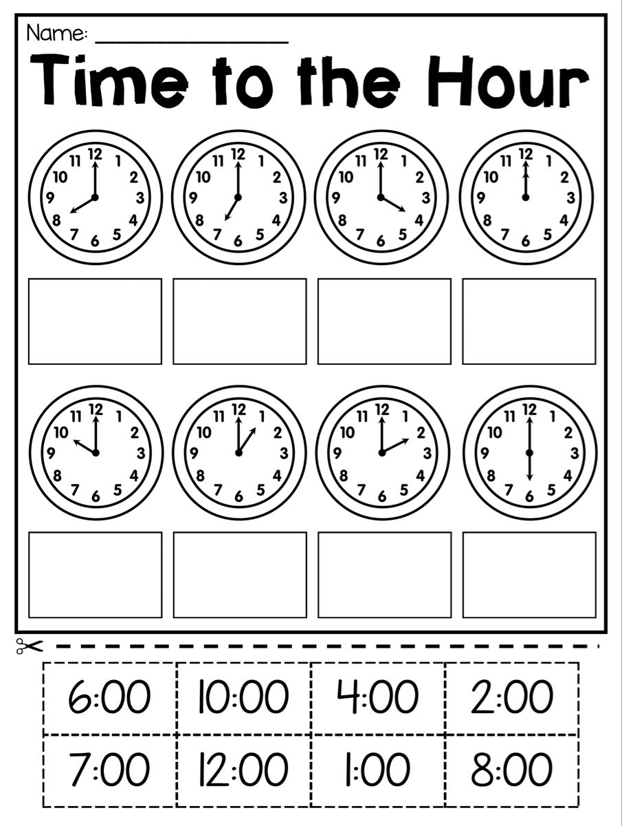 1St Grade Time Worksheets for free download Math