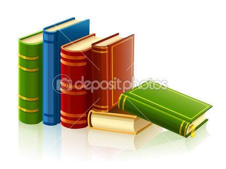 groep van verschillende boeken met lege omslag — Stockvector © LoopAll #5787822