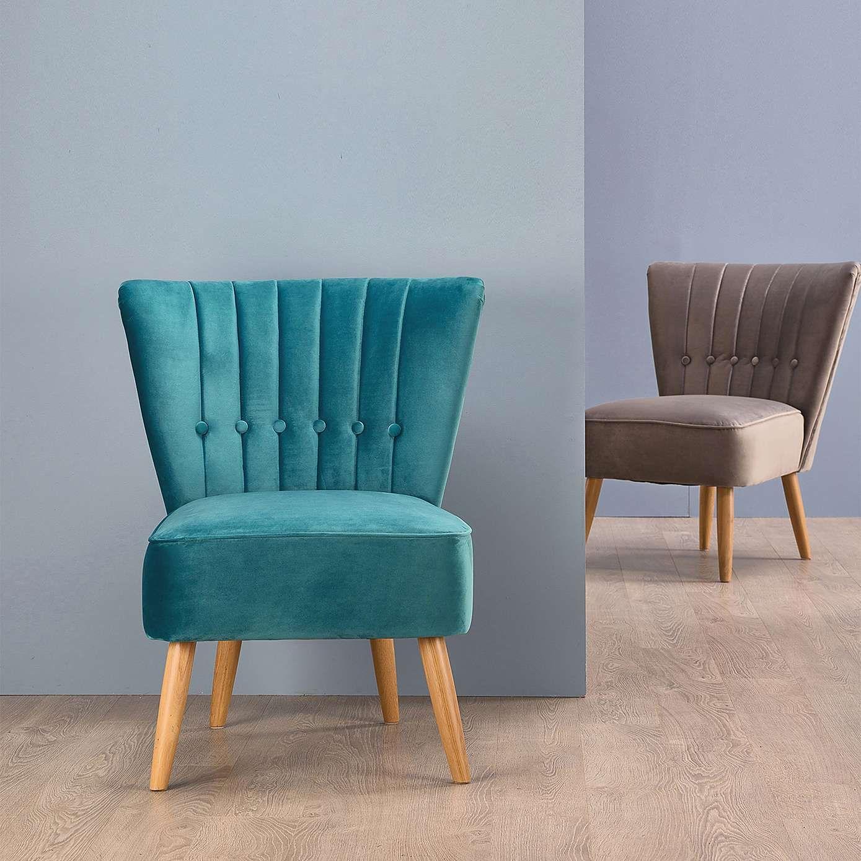 Isla chair teal dunelm cocktail chair velvet