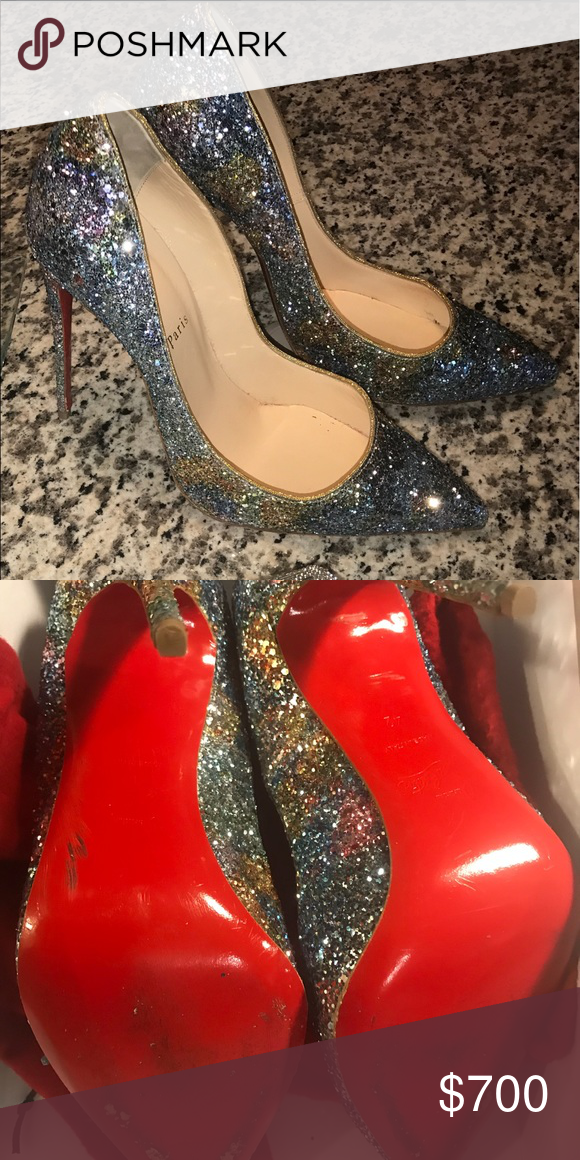 19081938a8e Christian Louboutin Glitter Pigalle Pumps Size 42. Style is Pigalle ...