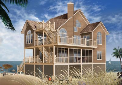 Beach Style House Plans   Square Foot Home   Story     Beach Style House Plans   Square Foot Home   Story  Bedroom and Bath  Garage Stalls by Monster House Plans   Plan     Pinterest   Monster