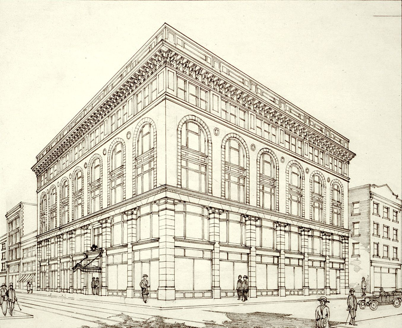 Perspective Drawings Of Buildings perspective | file:ryrie building - perspective of the south and
