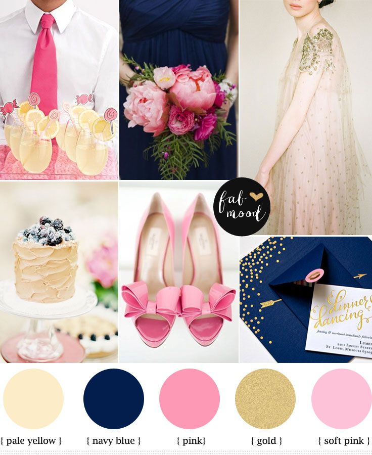 Navy Blue Pink And Gold Pink And Gold Wedding Summer Wedding Colors Wedding Color Schemes Blue
