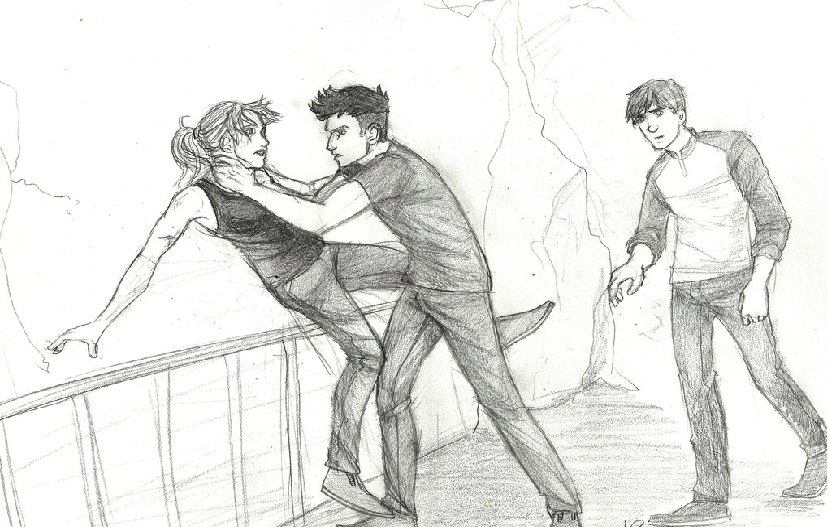 When Peter, Drew and Al attacked Tris from behind in