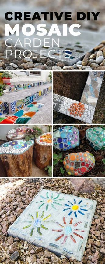 Creative DIY Mosaic Garden Projects #diygartenprojekte