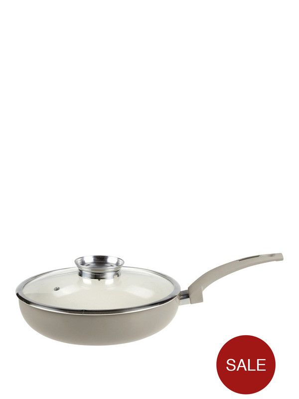 Tower Tower Ceramic Coated Saute Pan with Infuser Glass Lid | very.co.uk £17 - £19