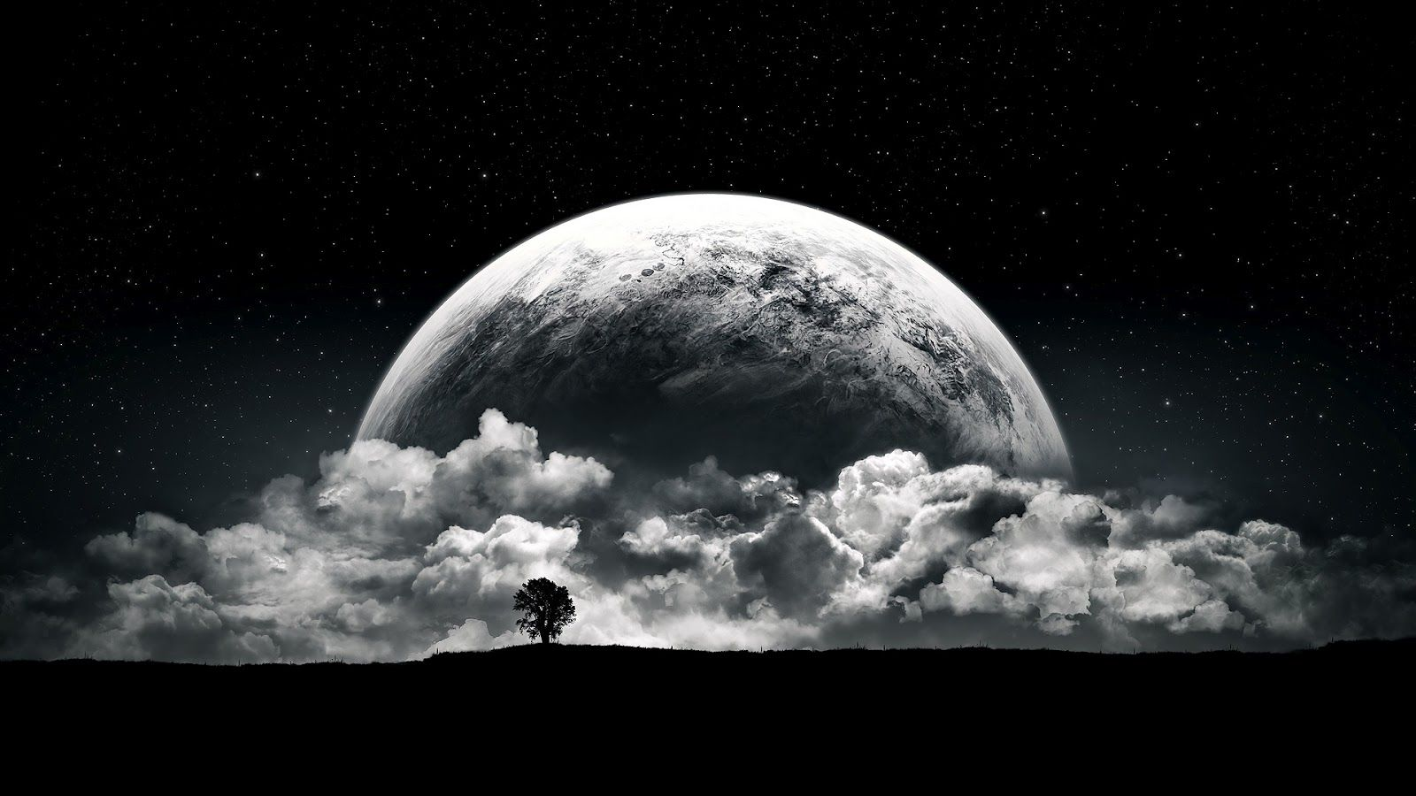 Melancholy Full Moon Full HD Wallpapers 1080p Cool Art