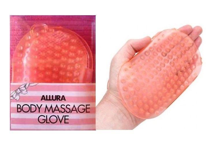 3 Allura Anti Cellulite Body Massage Glove Scrub Shower Massager Brush 2 side