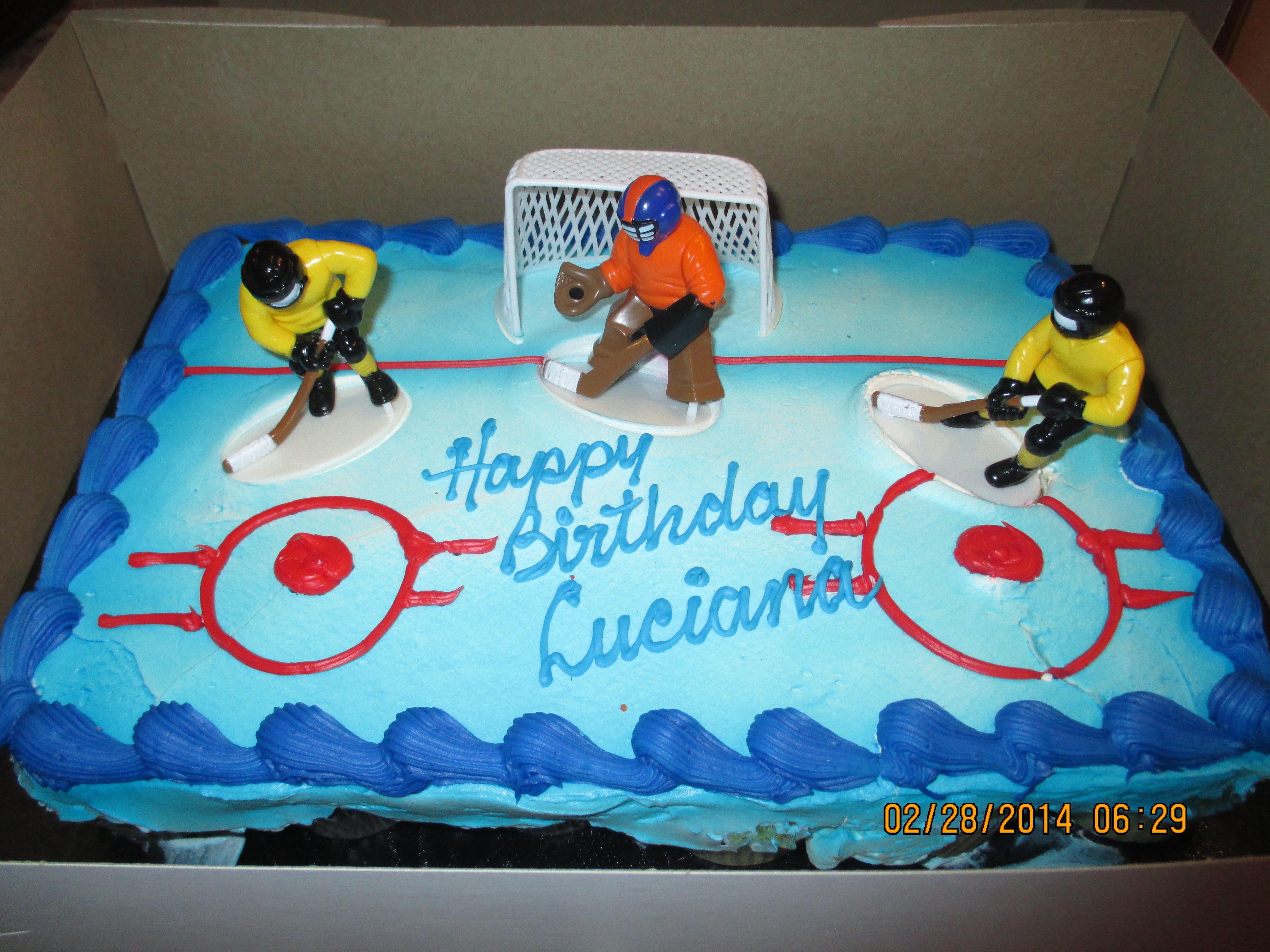 Food: Hockey cup cake birthday cake from loblaws. | Girl\'s Hockey ...