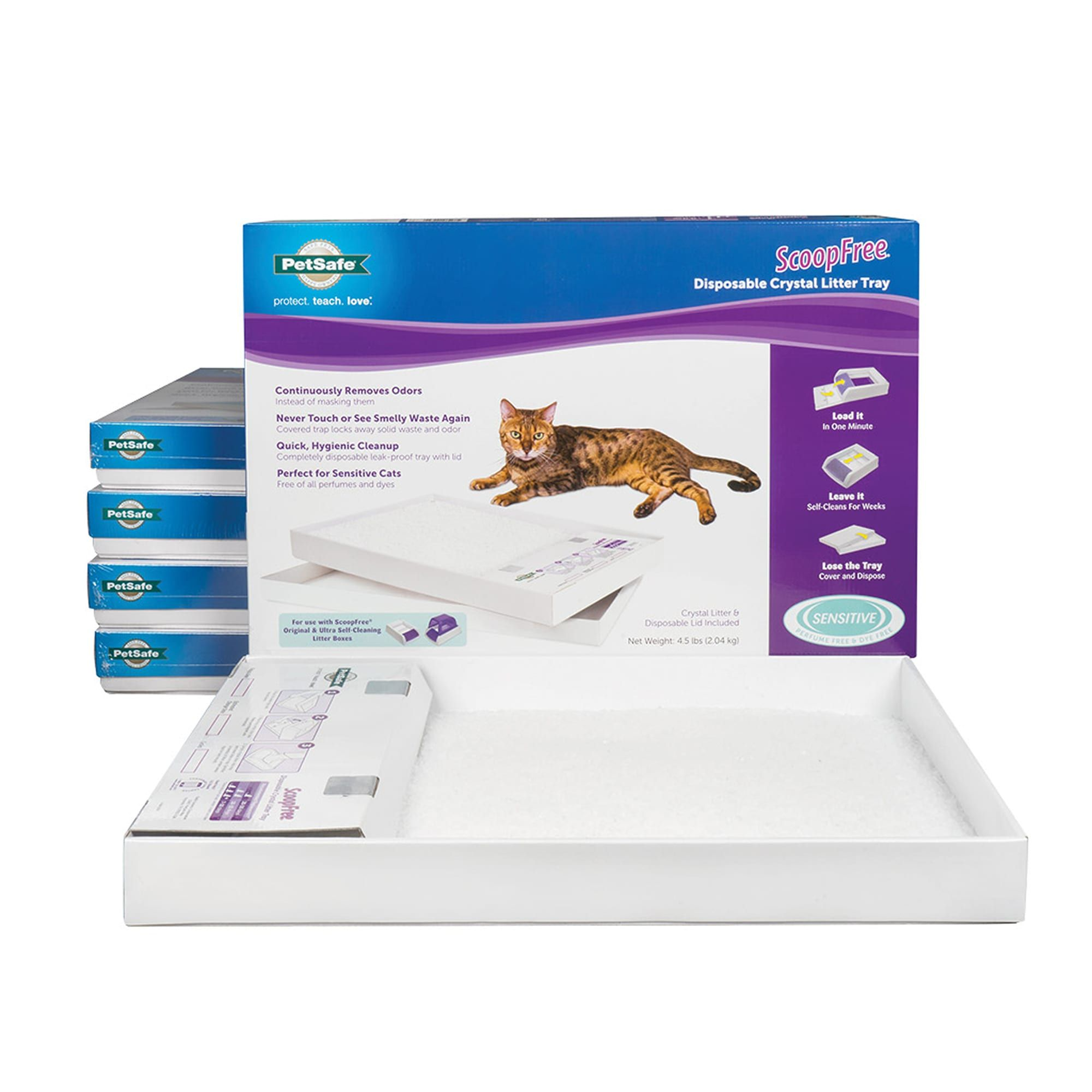 PetSafe ScoopFree Sensitive Disposable Crystal Cat Litter