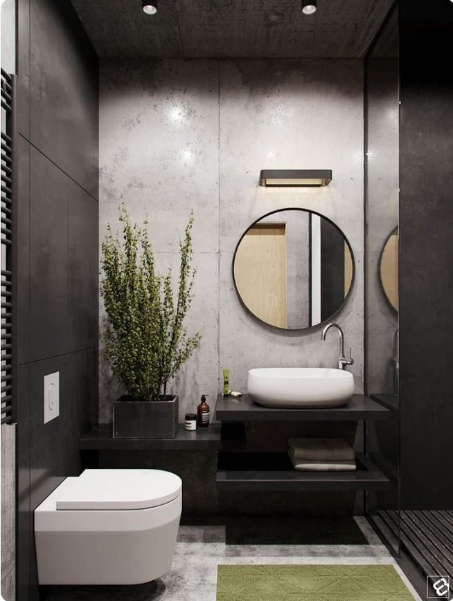 Bold Contemporary Colours Nice Touch Of Greens Walls And Lights Can Be Improved Less Gloss An Living Room Loft Small Bathroom Remodel Modern Bathroom Design