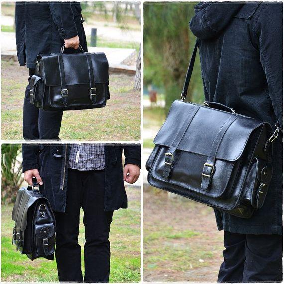 Black Leather Messenger Bag 17 Inch Laptop Bag Leather Briefcase Laptop Bag Shoulder B Black Leather Messenger Bag Leather Laptop Bag 17 Inch Laptop Bag