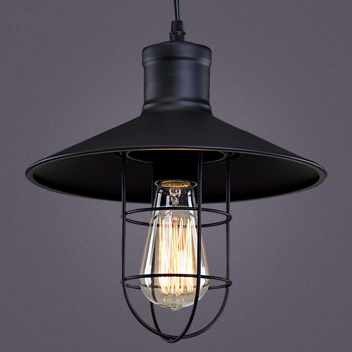 pendant lighting industrial style. Cheap Cage Pendant Light, Buy Quality Lights Directly From China Restaurant Suppliers: Light Hat Vintage Industrial Style Black Lighting E