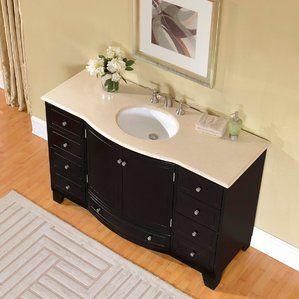 55 Single Sink Cabinet Bathroom Vanity Set