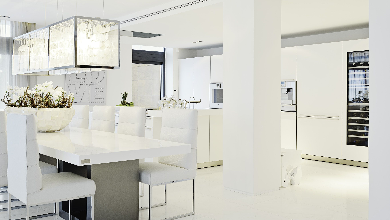 keuken en eetkamer - tafel, stoelen   modern architecture