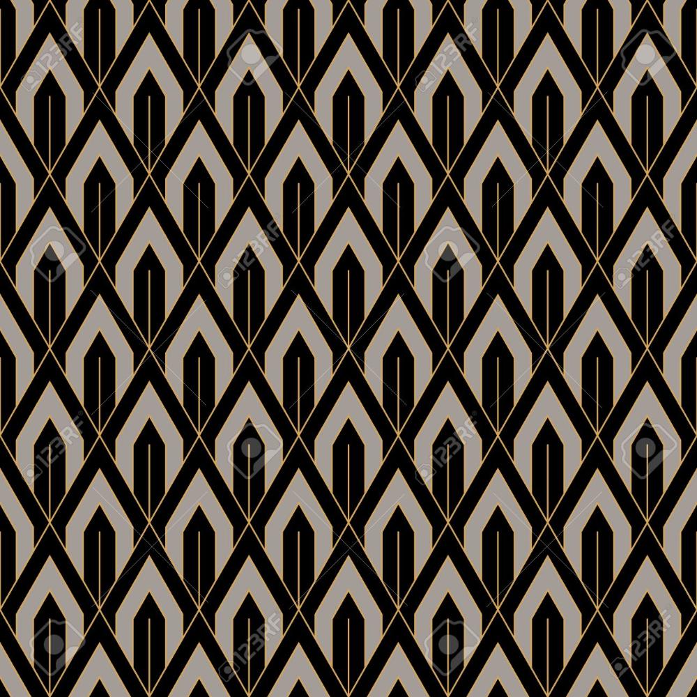 Art Deco Seamless Vintage Wallpaper Pattern Geometric Lace Decorative Vintage Wallpaper Patterns Vintage Wallpaper Art Deco Pattern