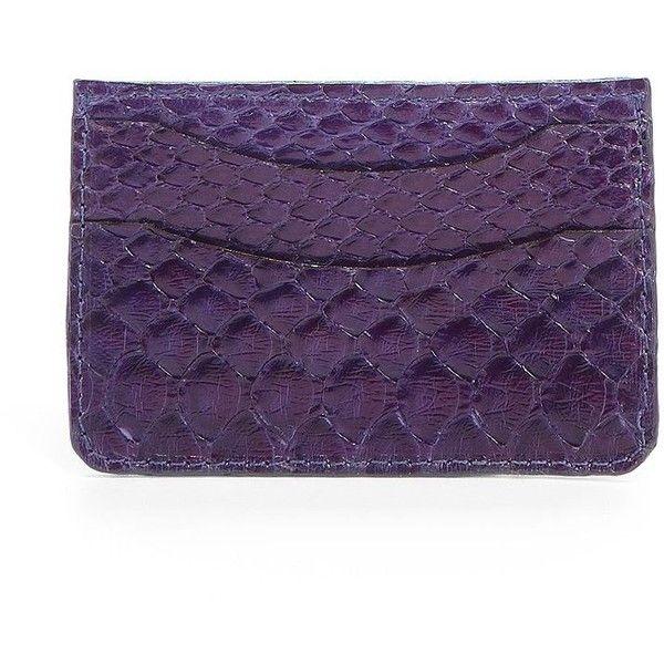Adriana Castro Python Card Holder/Purple ($82) ❤ liked on Polyvore