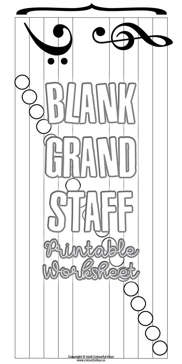 Grand Staff Blank Notes Worksheet for Note Naming Practice | MUSIC