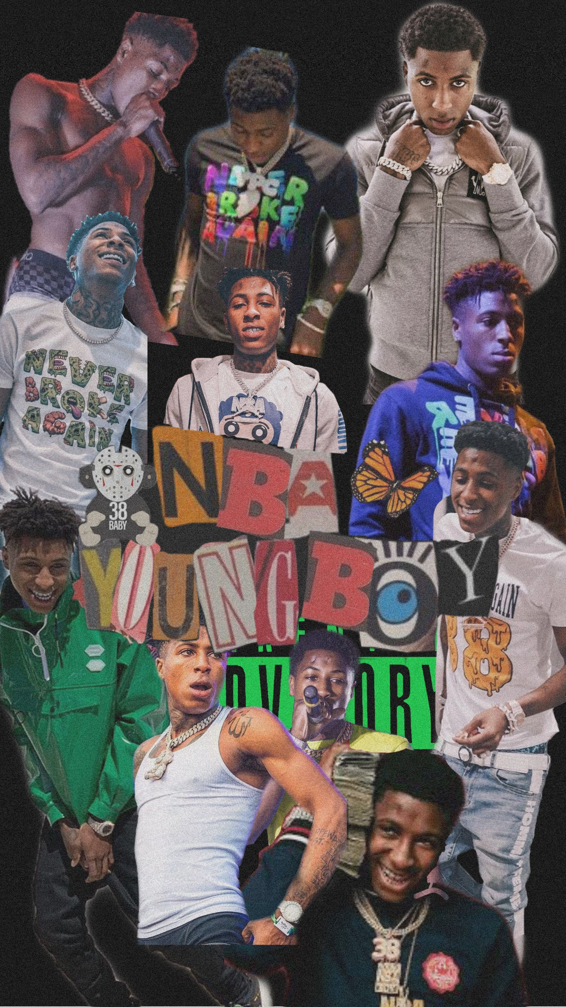Nba Youngboy In 2020 Rapper Wallpaper Iphone Cartoon Wallpaper Iphone Rapper Art