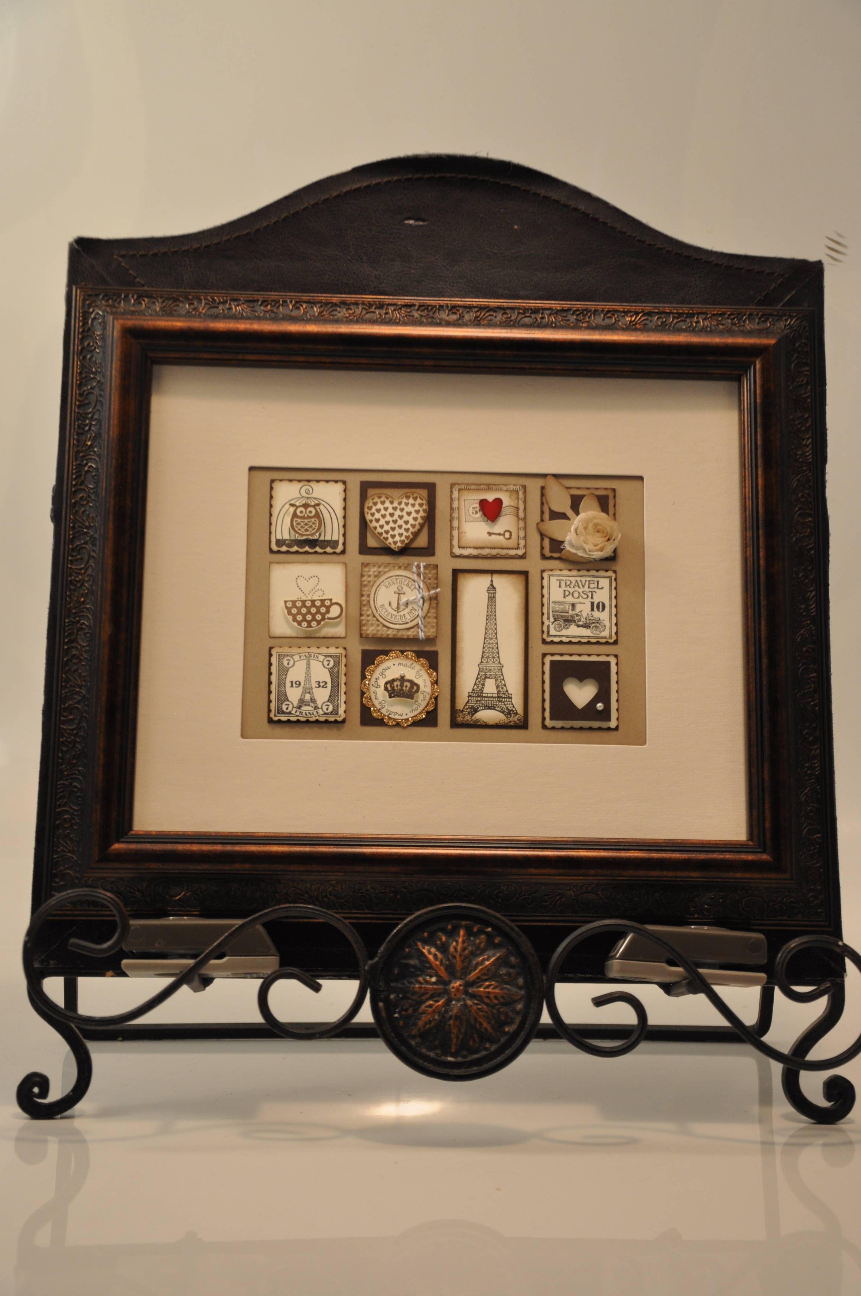 Framed Vintage Sampler, Stampin Up! Artistic Etchings... | Boxes ...