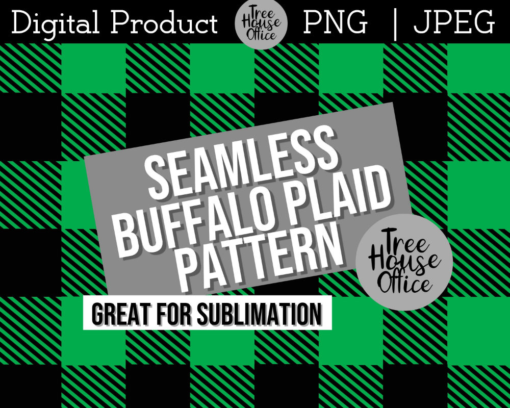Green Buffalo Plaid Sublimation Jpeg Png St Patrick S Day Etsy In 2020 Buffalo Plaid St Patricks Day Sublime
