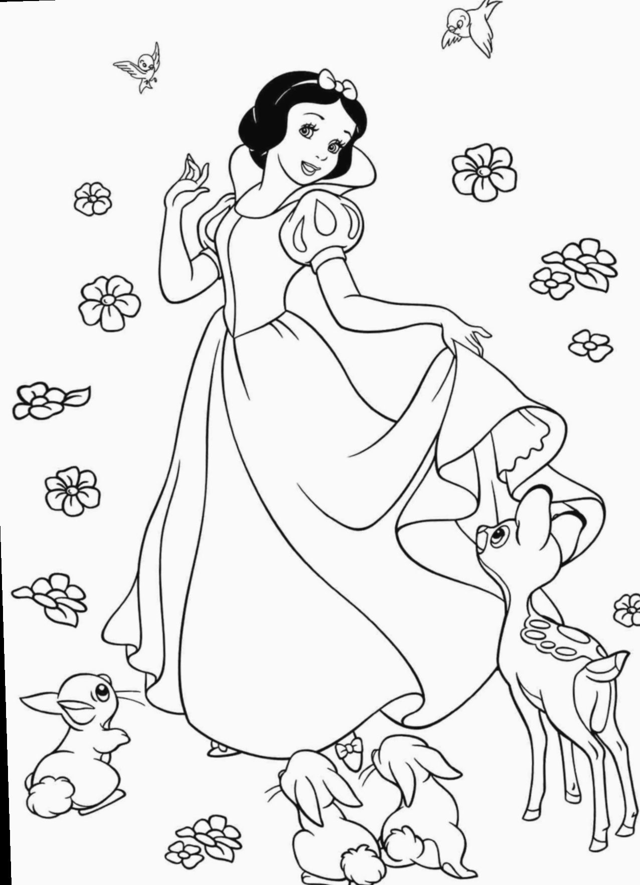 13 Drawing Disney Princesses Snow White Gratis Kleurplaten Disney Kleurplaten Sneeuwwitje