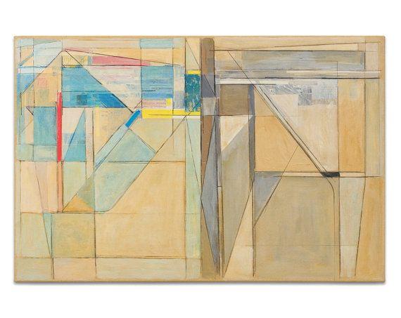 Abstract Art Original Painting Mid Century Modern Art Large Art ...