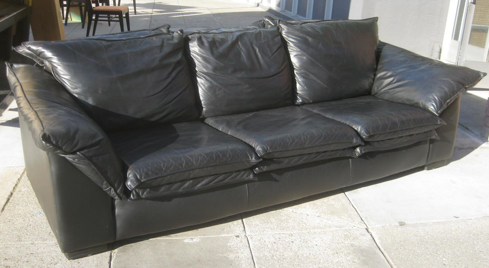 Cozy Black Leather Sofas For Elegant Living Room Elegant