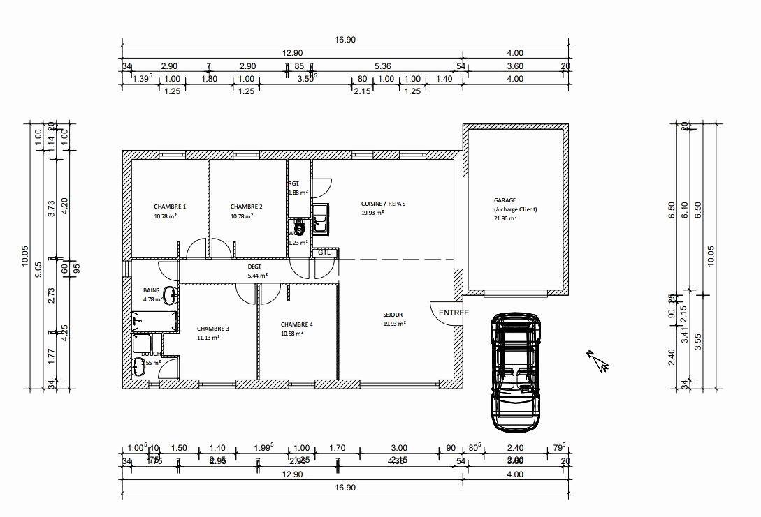 Awesome Plan Maison Moderne Plain Pied Toit Plat That You