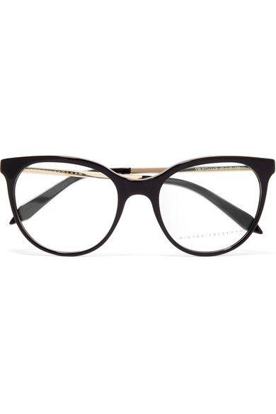 c3e194315d Victoria Beckham - Classic Kitten Cat-eye Acetate And Gold-tone Optical  Glasses - Black