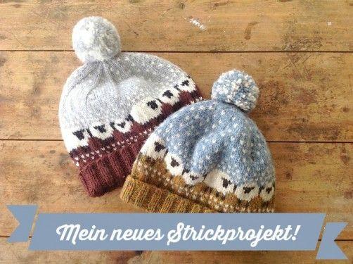 Baa-ble Hat: Mütze mit Schafen stricken | Schäfchen, Mütze und Stricken
