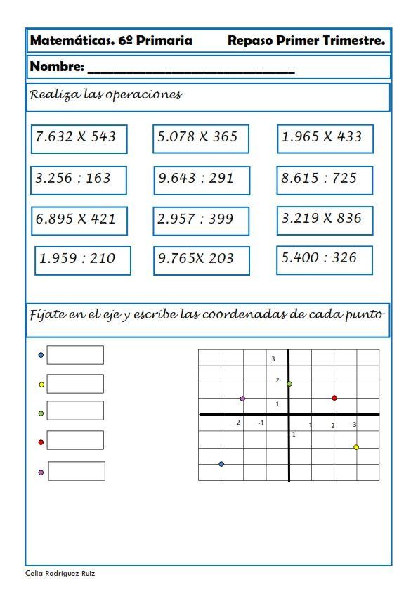 Ejercicios De Matemáticas Para Sexto De Primaria Matemáticas De Sexto Grado Actividades De Matematicas Ejercicios De Calculo