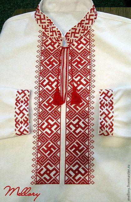 Одежда ручной работы. Ярмарка Мастеров - ручная работа Мужская вышиванка.  Handmade. a9efcf06c5620