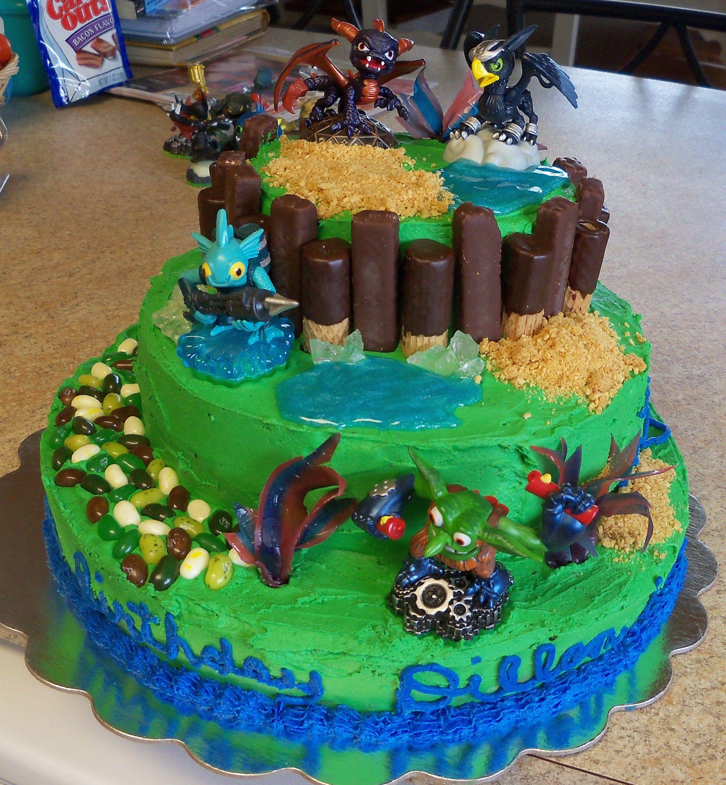 Skylanders Cake Cakes Pinterest Skylanders Cake and Birthdays