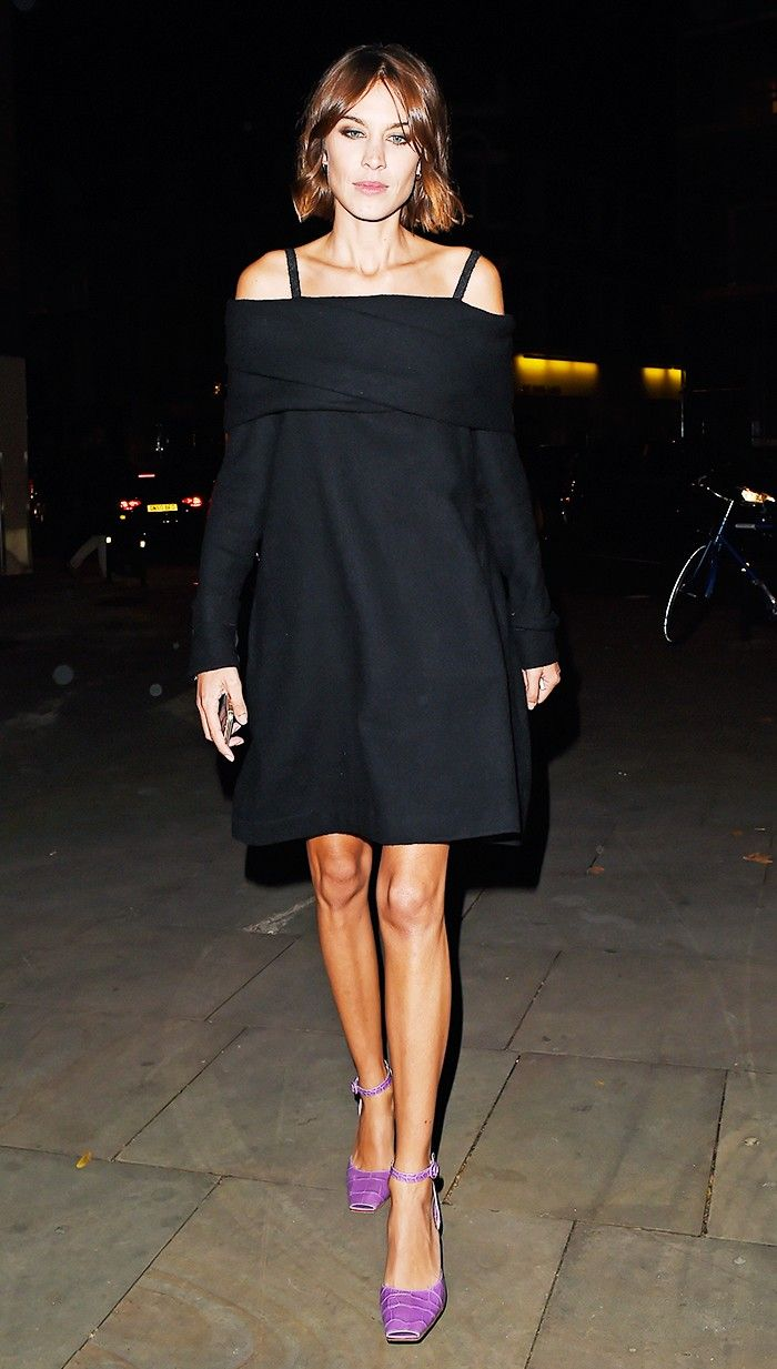 Make Your Summer Style Look Expensive Without Spending a Ton via @WhoWhatWear   Dress Up an LBD With Bold Shoes   Shown: Alexa Chung