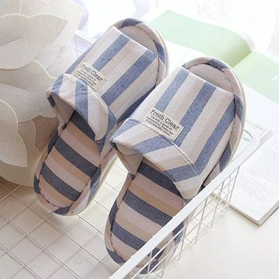 Spring and summer men's large size PU bottom floor mute slippers home