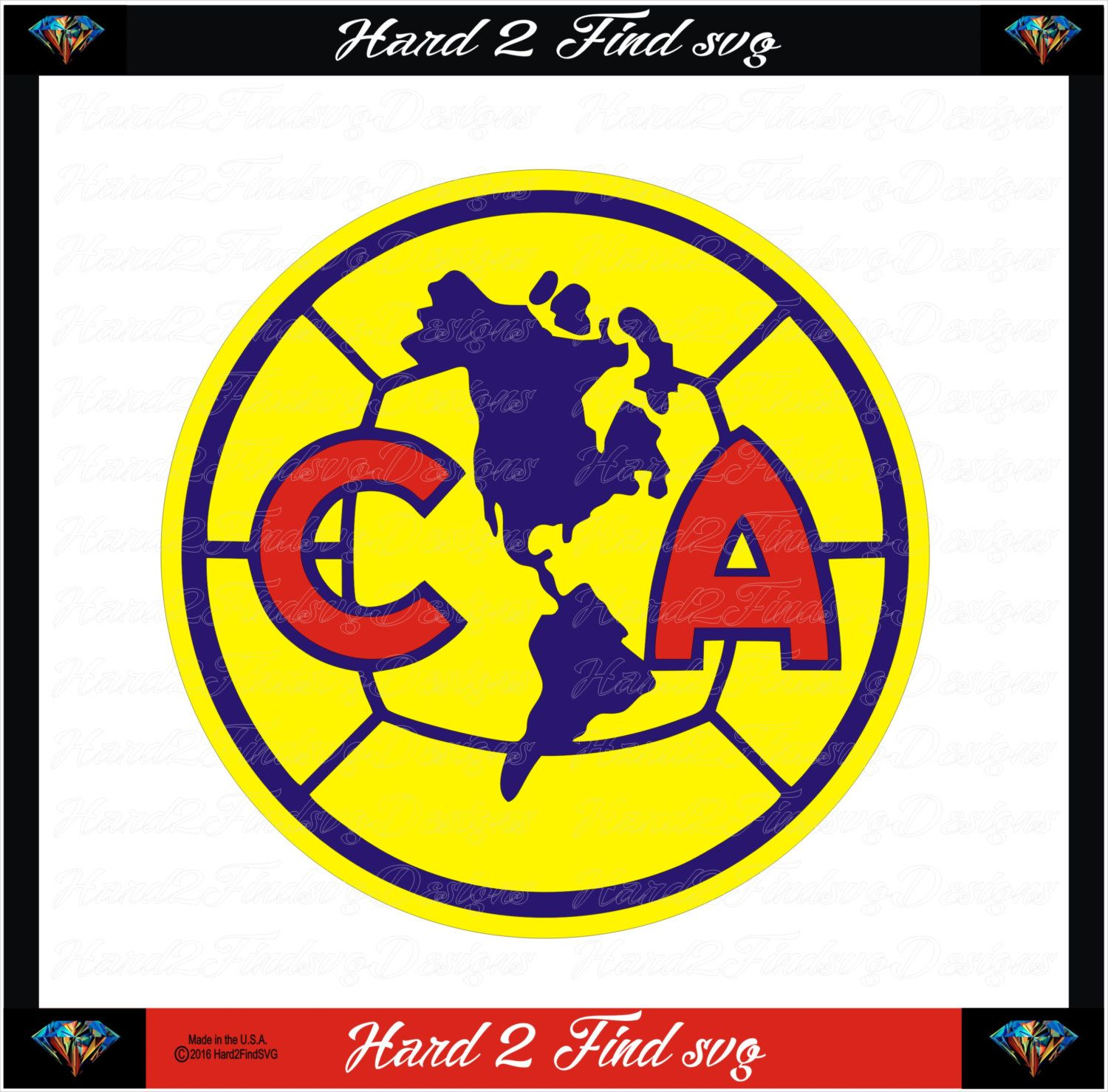 Club America Soccer Design Use With Your Silhouette Studio