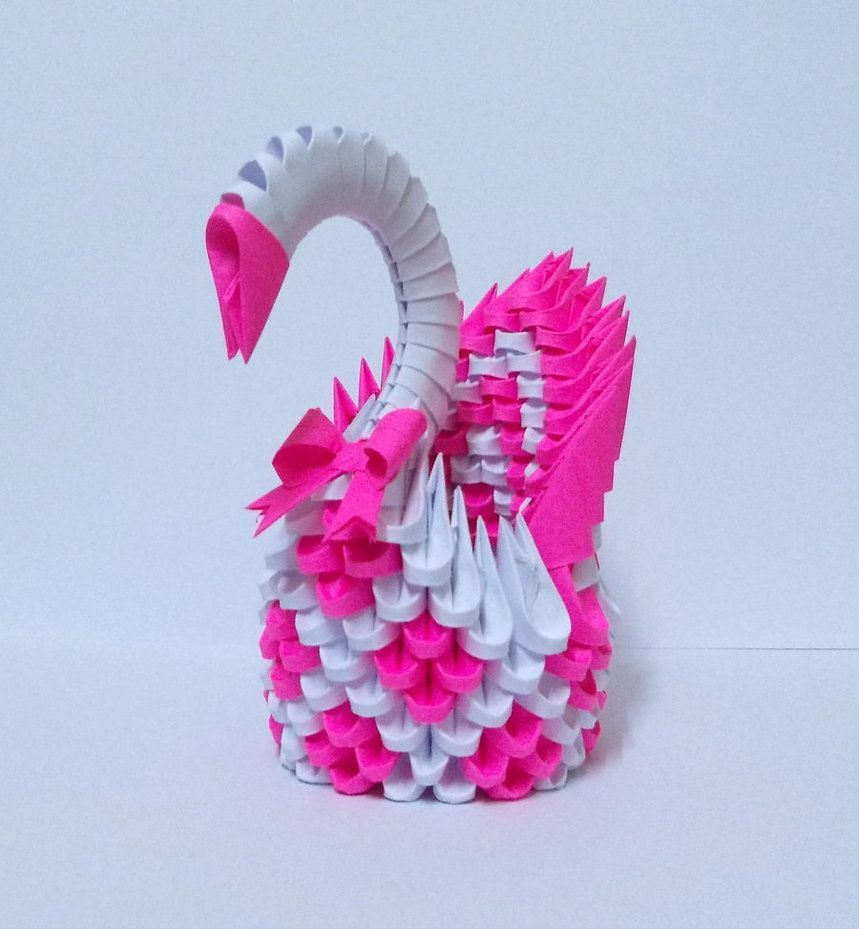Sticky Note Origami Swan | origami person | 929x859