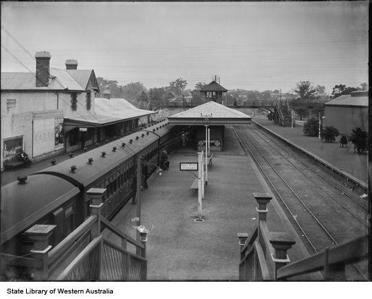 Claremont Railway Station Perth In The 1910s Western Australia Australia History Perth