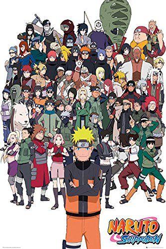"Naruto Shippuden Poster - All Characters (24""x36""): Amazon.ca: Home &… |  Naruto shippuden characters, Naruto shippuden anime, Naruto"