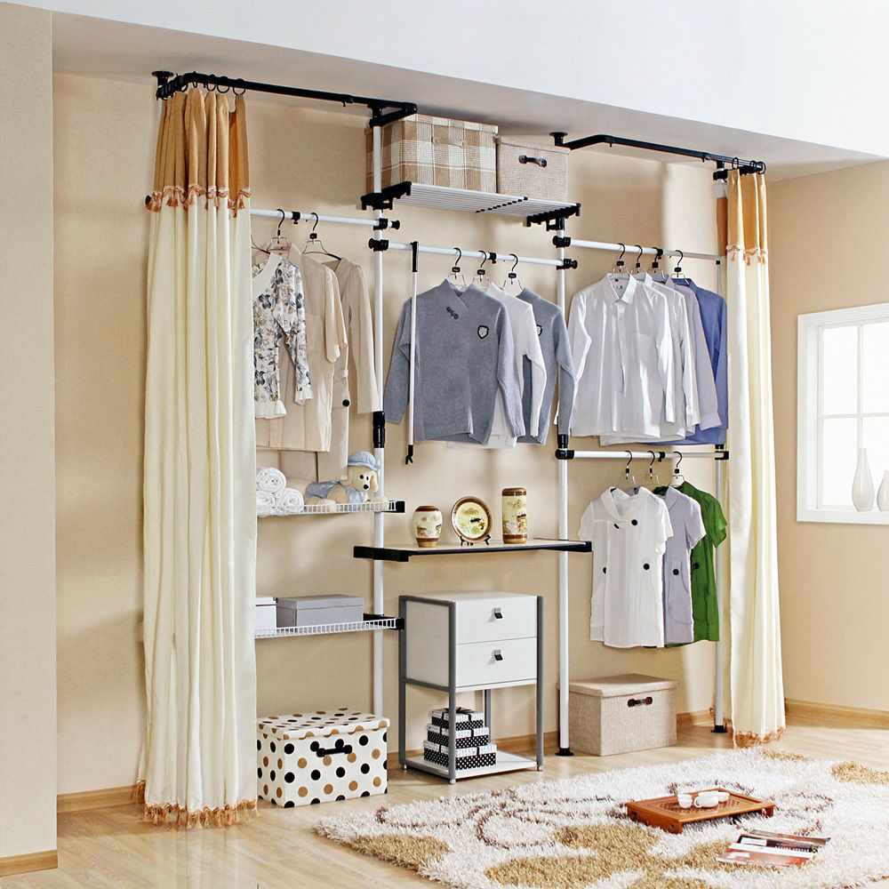 Curtain Idea Band At Top Hmmm Closet Organization Tips