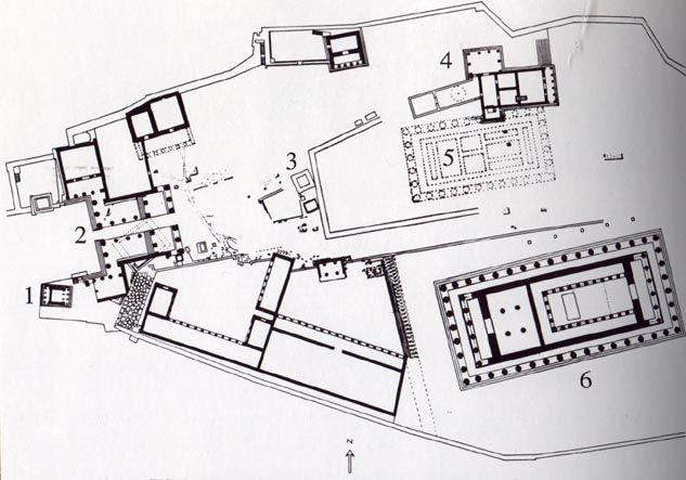 Plan Of The Acropolis 1 Temple Of Athena Nike 2 Propylaea 3 Statue Of Athena Promachus 4 Erechtheum 5 Old Temple Of A Acropolis How To Plan Mycenaean